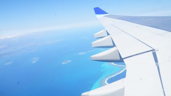 飛行機からの撮影。