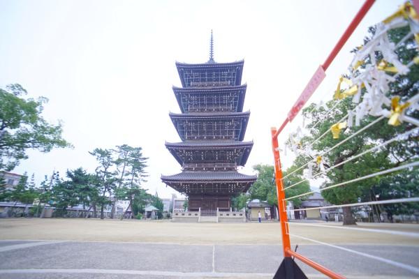 善通寺市のシンボル、五重塔です。