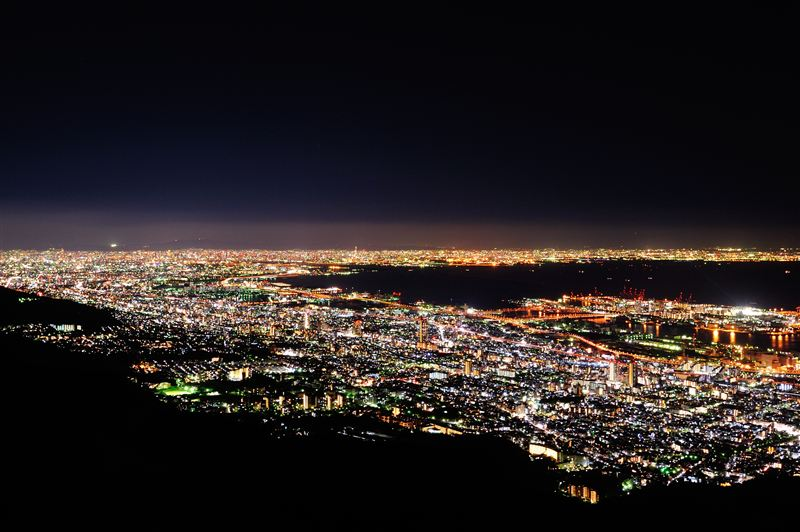 神戸市の摩耶山の夜景