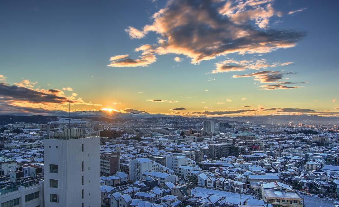 東京にも積雪
