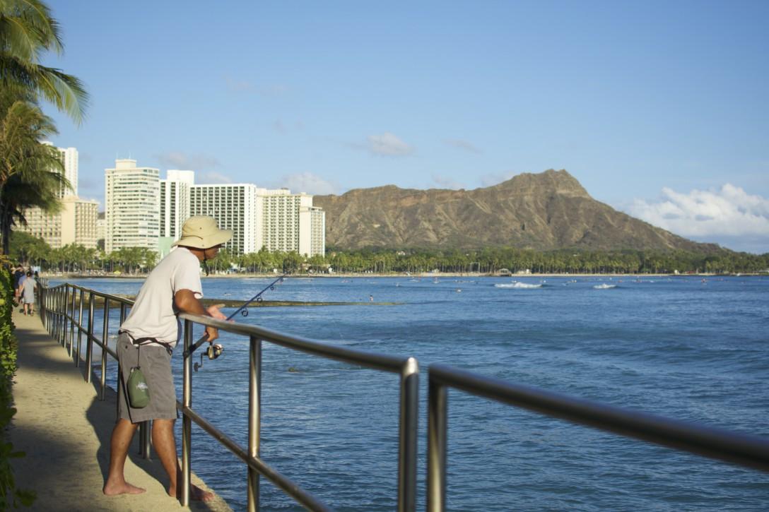 ハワイ・ワイキキの中の日常
