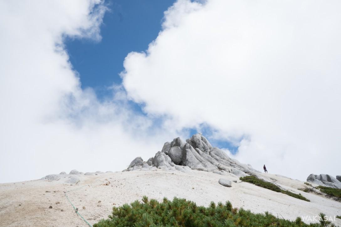 燕岳の裏側