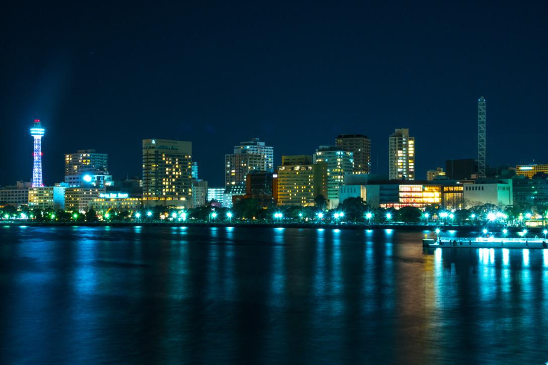 横浜の夜景。