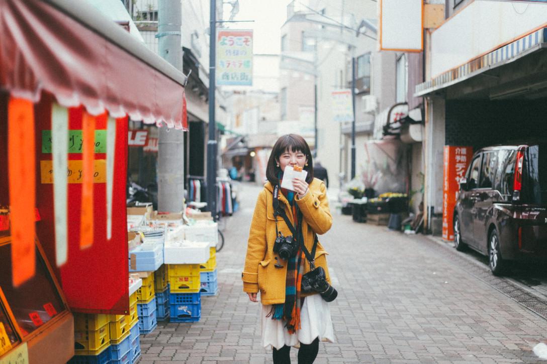 <下町ジェニック>墨田区の商店街を、カメラ女子散歩。