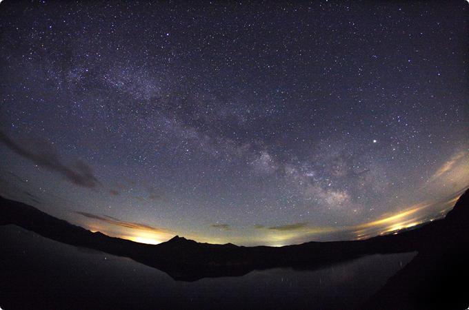北海道 摩周湖の星空