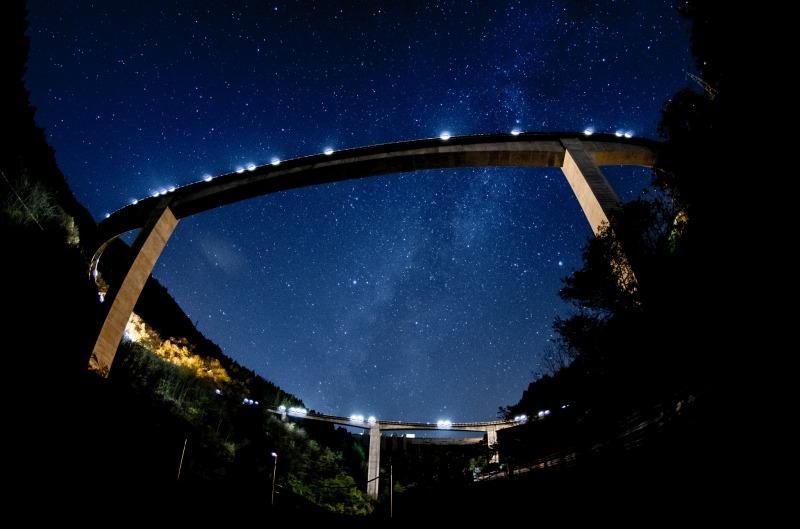 埼玉県 雷電廿六木橋の星空