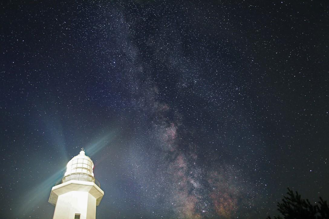 千葉県 野島崎灯台の星空