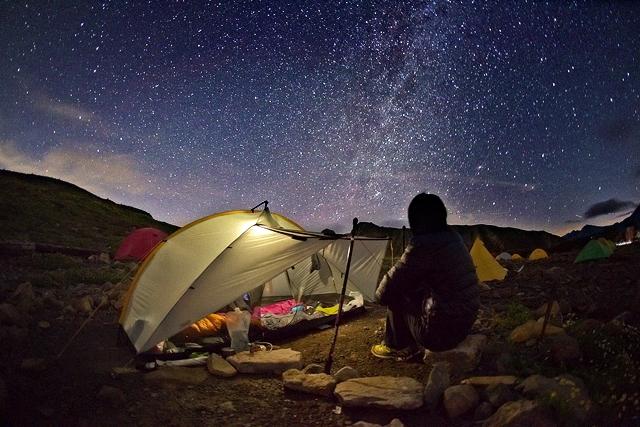 富山県五色ヶ原キャンプ場の星空