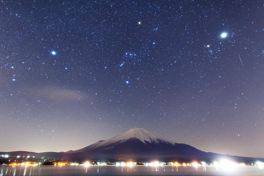 山梨県 山中湖の星空