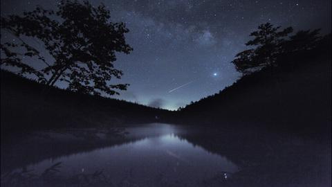 長野県 双子池の星空
