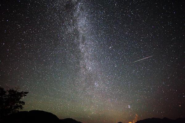 長野県 しらびそ高原 ハイランドしらびそ山荘付近の星空