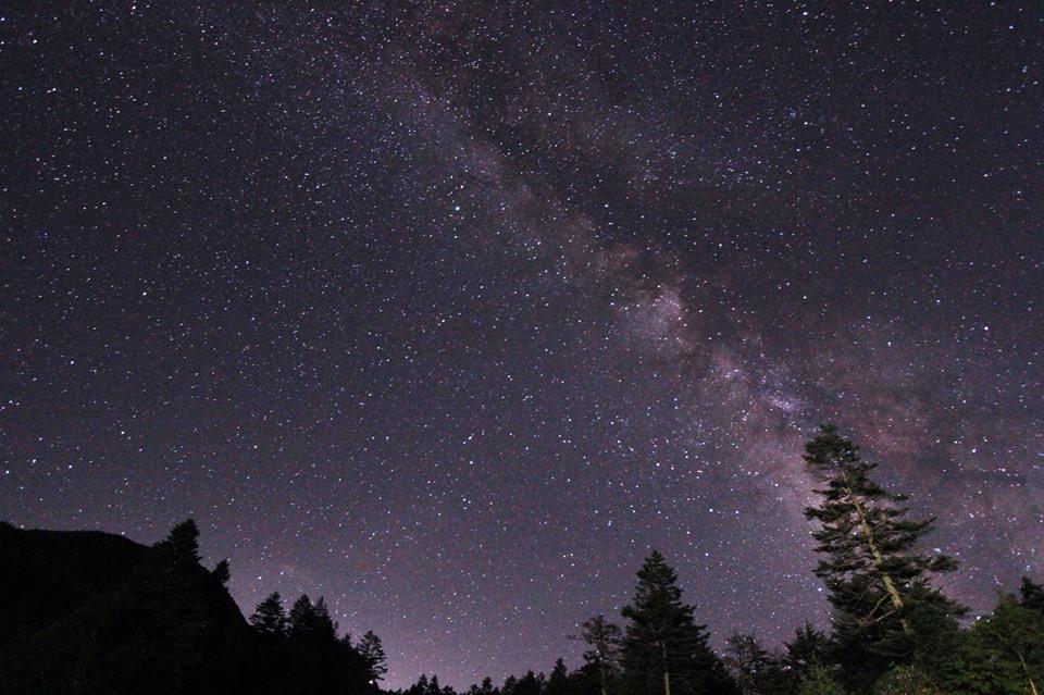 長野県 志賀高原横手山方面の星空