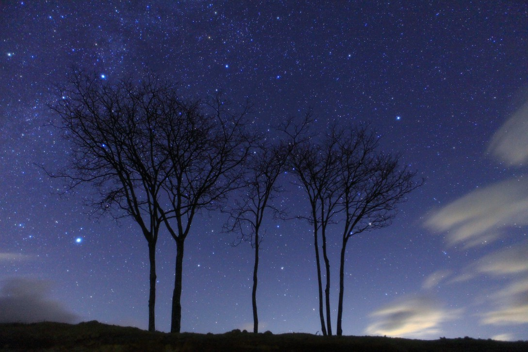 長野県 佐久郡南牧村野辺山高原の星空