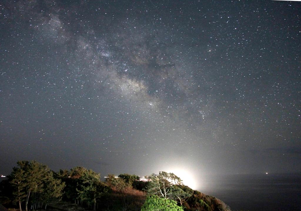 和歌山県 みさきロッジニシダ屋上の星空