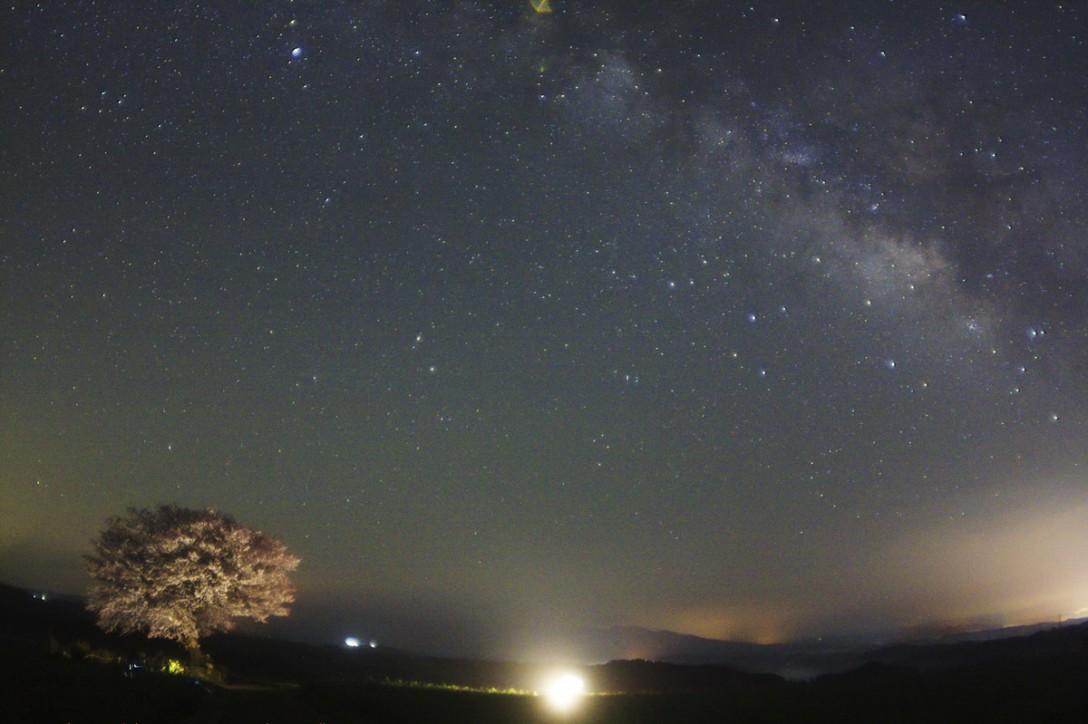 熊本県 前原一本桜の星空