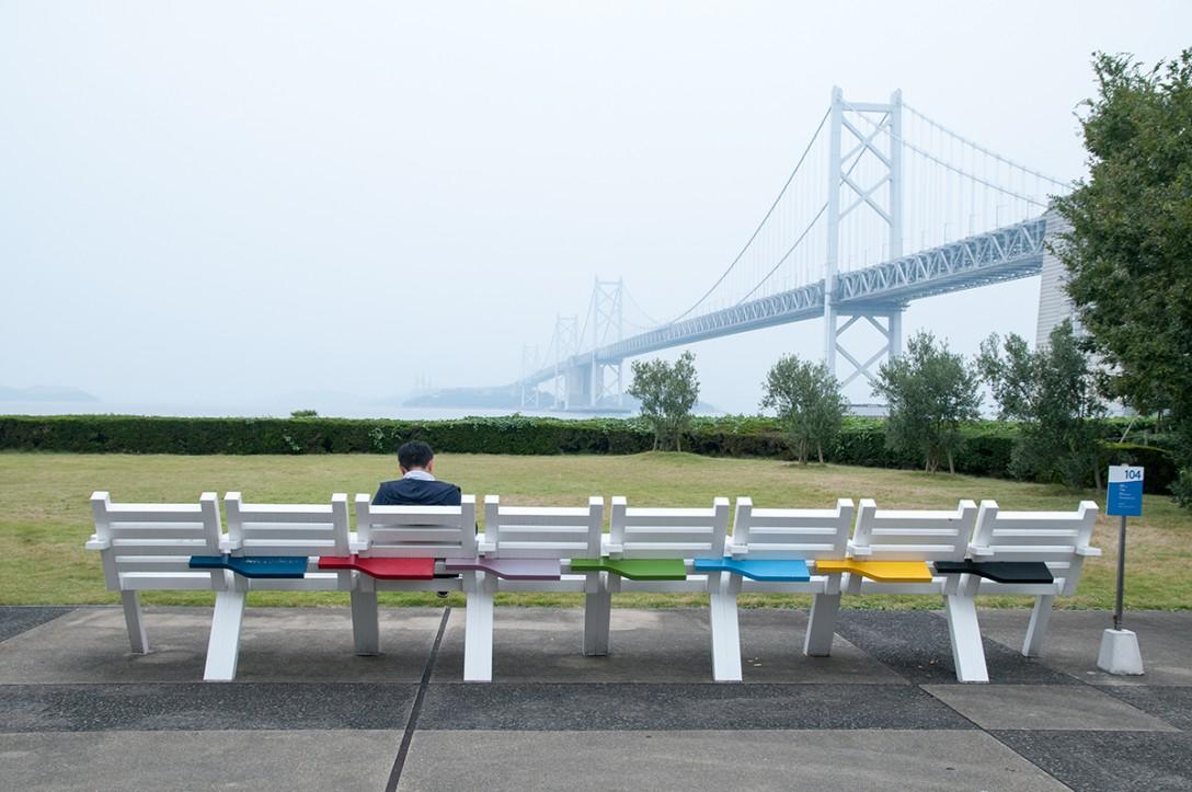 香川県坂出市 瀬戸大橋記念公園 八人九脚