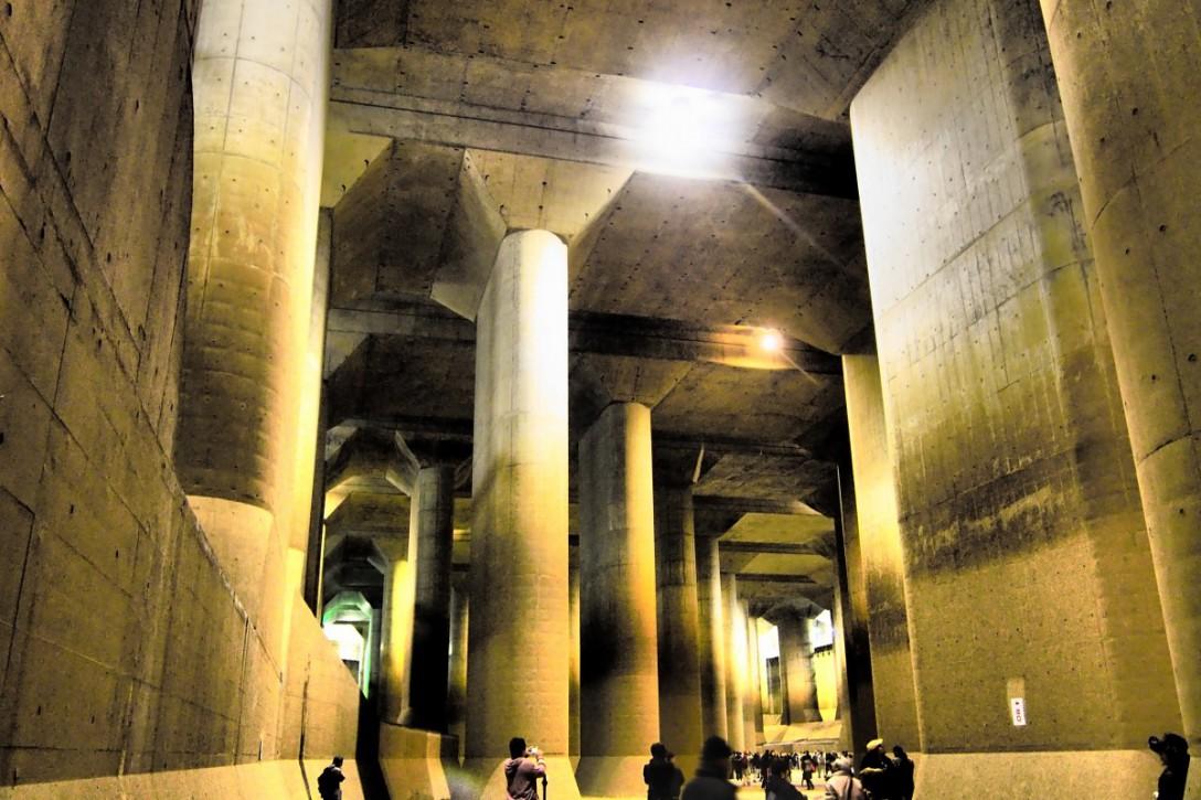 まるで地下神殿!埼玉の首都圏外郭放水路
