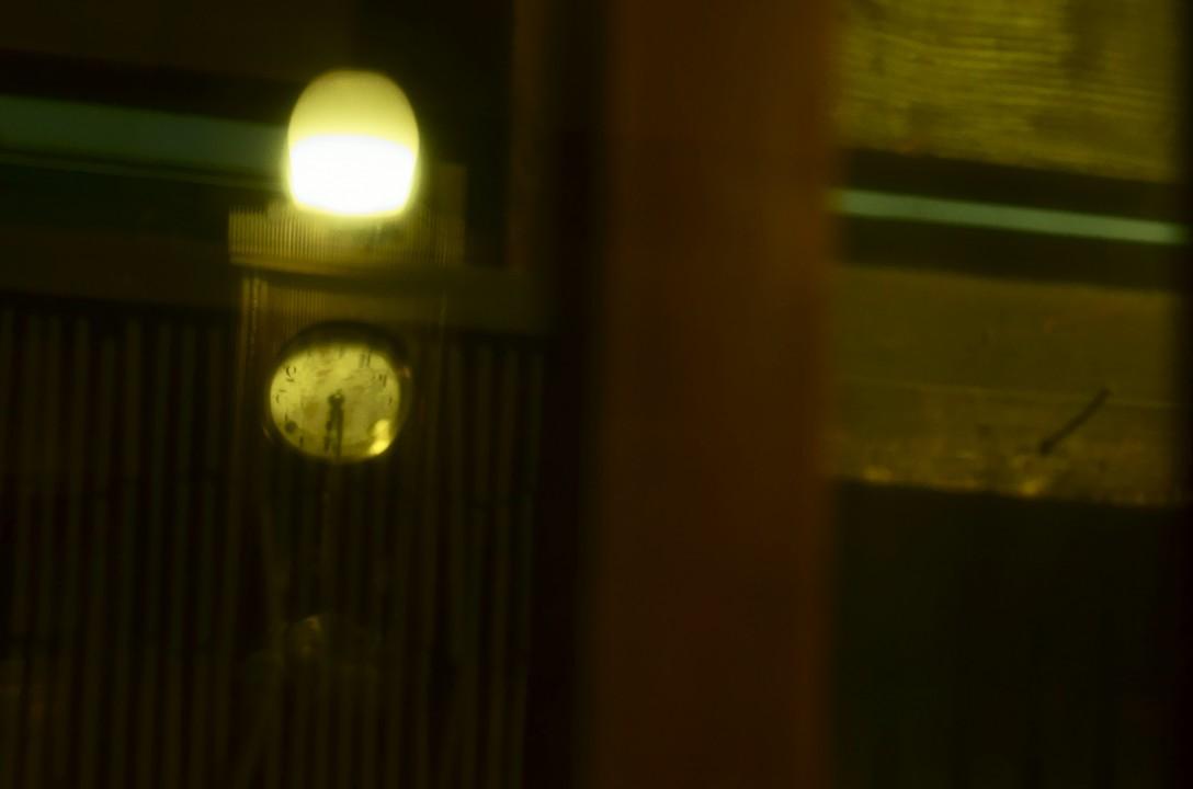 柱時計がなつかしい感じを醸し出していました。