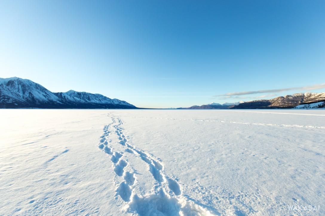 雪のクルアニ湖