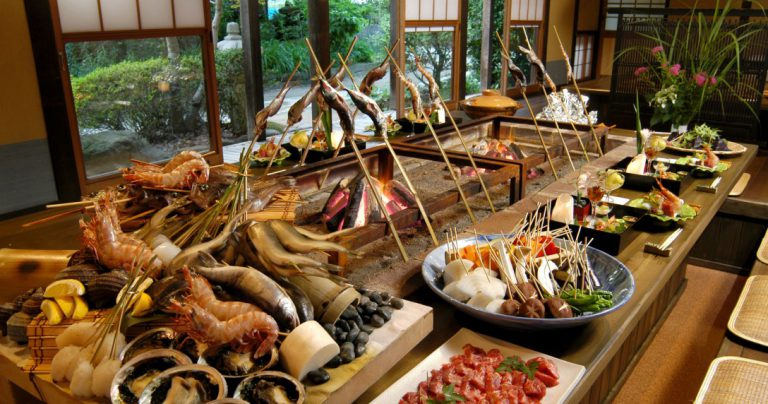 賀茂川荘(いろり山荘料理)(例)