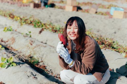 お芋掘りも楽しみました!