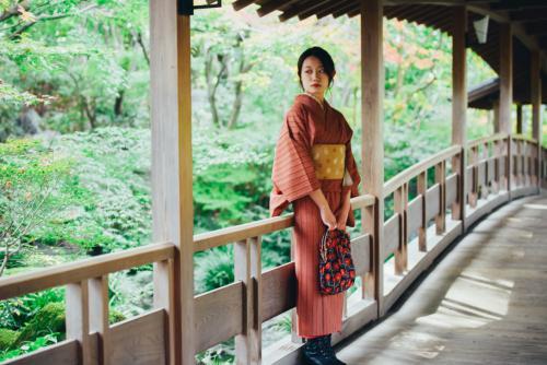 姫路市では着物体験をしました!